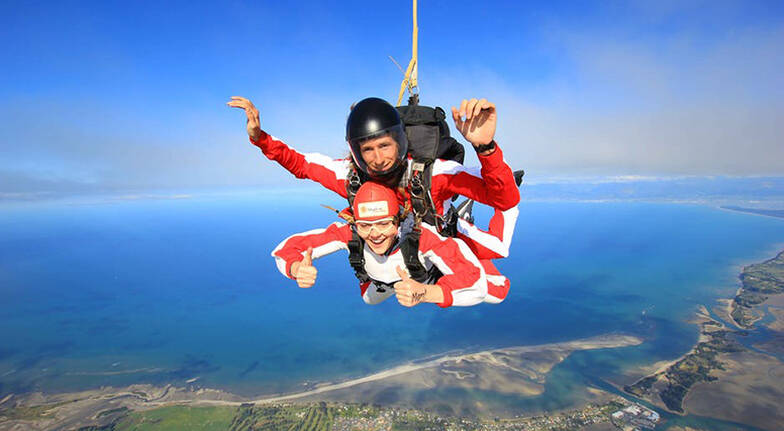 Tandem Skydive over Abel Tasman - 9,000ft