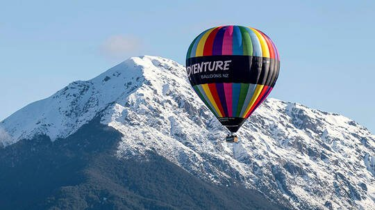 Hot Air Balloon Flight Over Mount Hutt with Drink