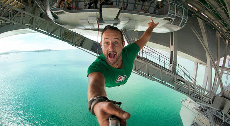 Auckland Harbour Bridge Climb and Bungy Jump with TShirt