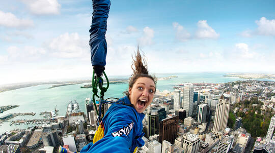 Auckland Sky Tower SkyJump and SkyWalk Combo