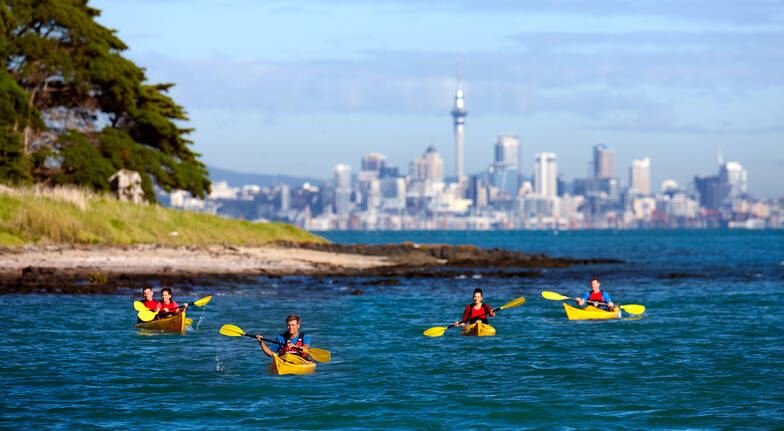 Sensational Sunset Kayak Tour to Rangitoto Island