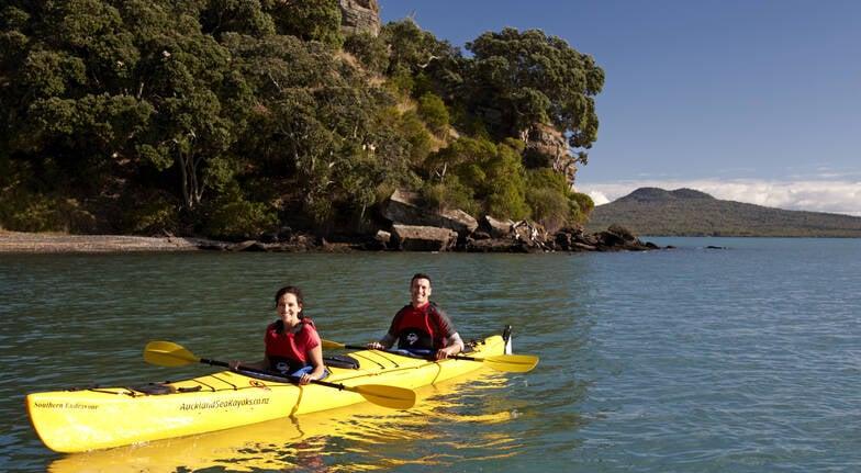 Motukorea Half Day Sea Kayak and Hike Exploration