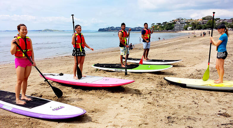 Mission Bay Stand Up Paddle Board Group Lesson  For 2
