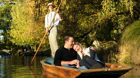 Punting on Christchurch's Avon River