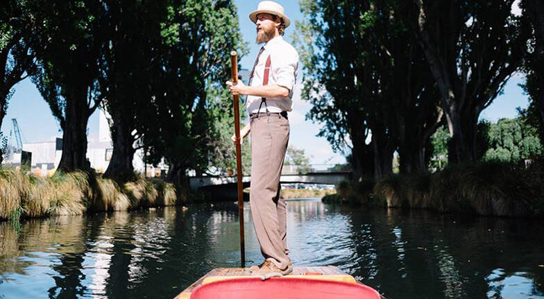 Private Punting on Christchurchs Avon River  For 4