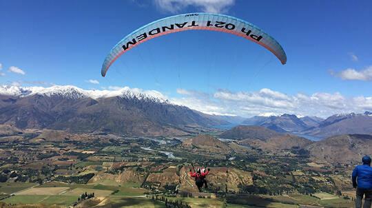 Summer Tandem Paragliding Flight