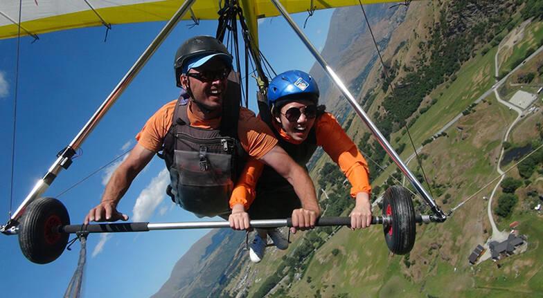 Summer Tandem Hang Gliding Flight