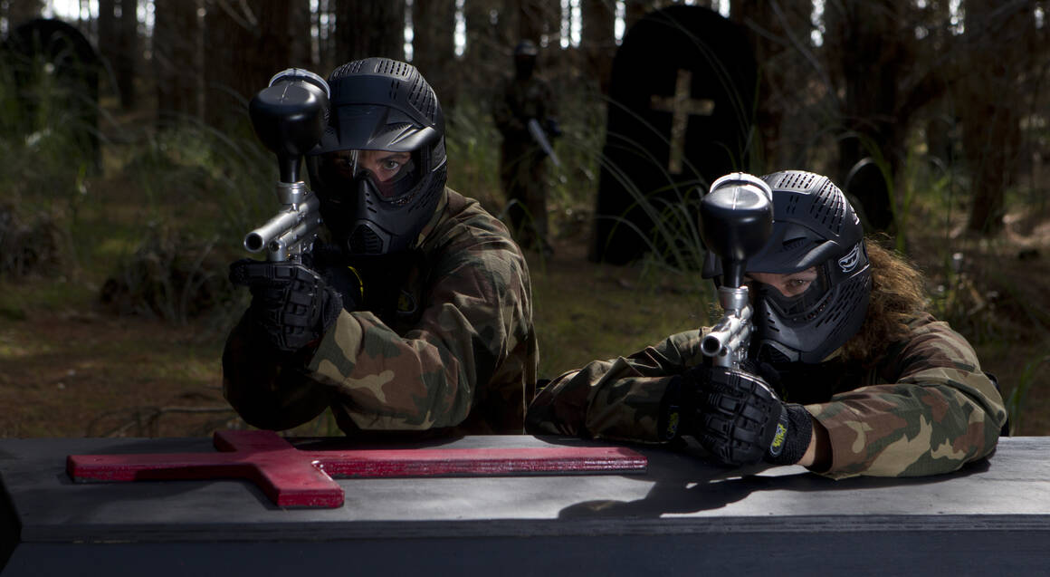 Full Day Paintball Experience with 500 Paintballs For 2