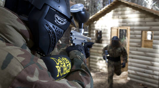 Full Day Paintball Experience with 500 Paintballs - For 2