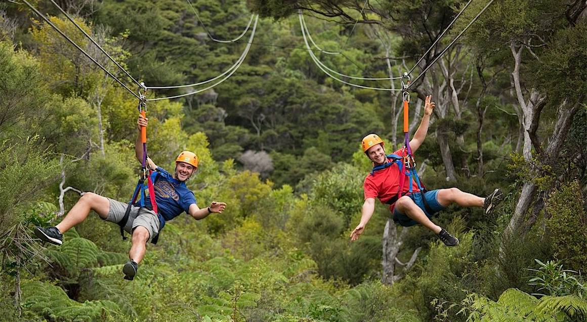 Zipline Wine and Dine Coach Tour