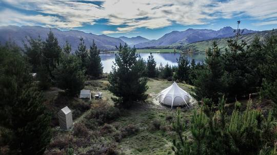 Couples Luxury Overnight Glamping by Lake Wanaka - For 2