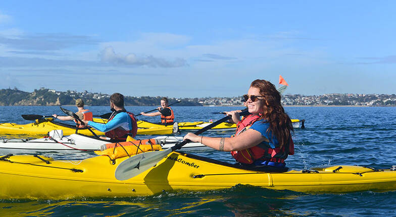 Kayak Tour to Rangitoto Island with Hike - 6 Hours