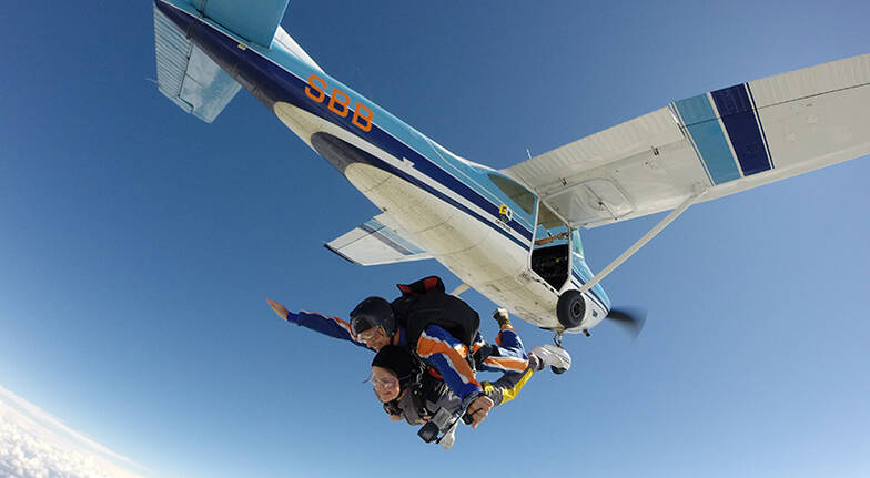 Tandem Skydive Over Waikato Region  7000ft