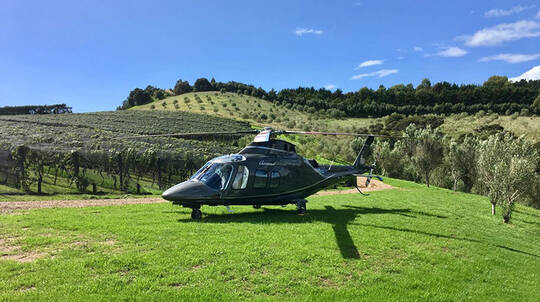Helicopter Flight to Mudbrick Vineyard with Meal - For 2