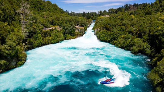 Cruise, Helicopter Flight and Jet Boat Combo - Taupo