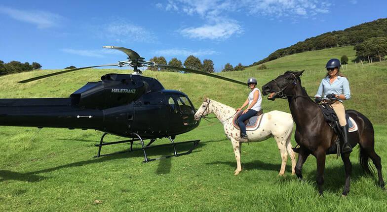 Waiheke Island Horse Trek and Helicopter Flight - For 2