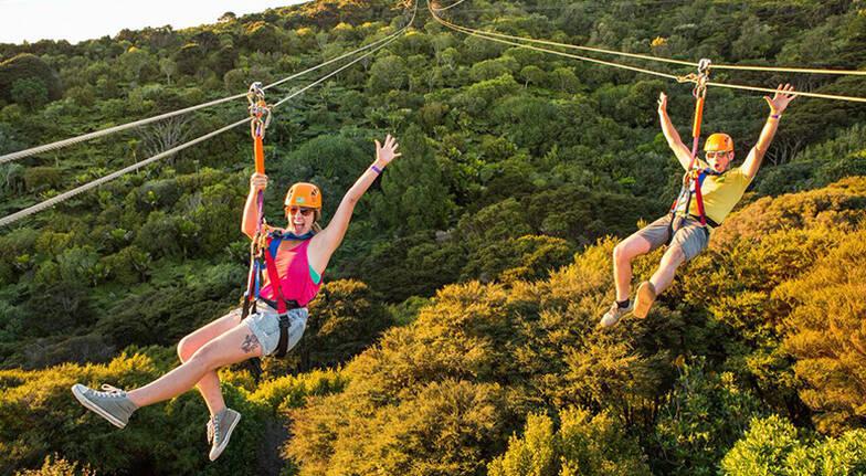 Waiheke Island Zipline and Helicopter Adventure - For 2