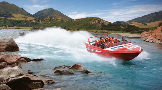Hanmer Springs Jet Boat Ride on Waiau River