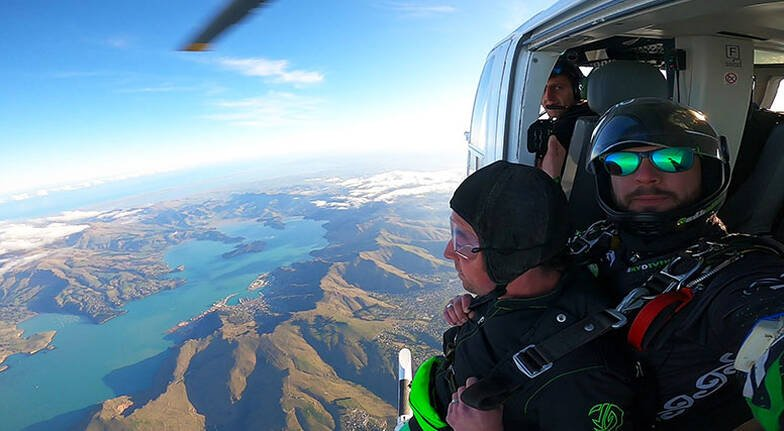 Helicopter Skydive over Christchurch with Beach Landing