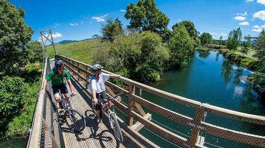 Hauraki Trail Ride with Lunch and Accommodation - 2 Days