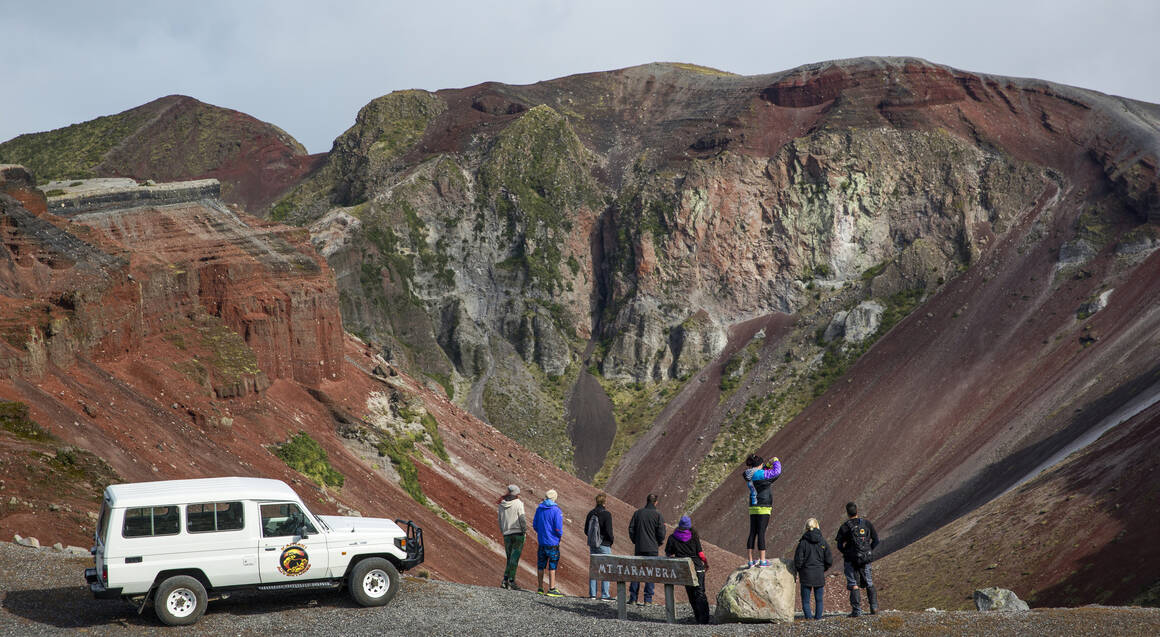 4X4 Off Road Drive to Mt Tarawera Craters Edge and Hike