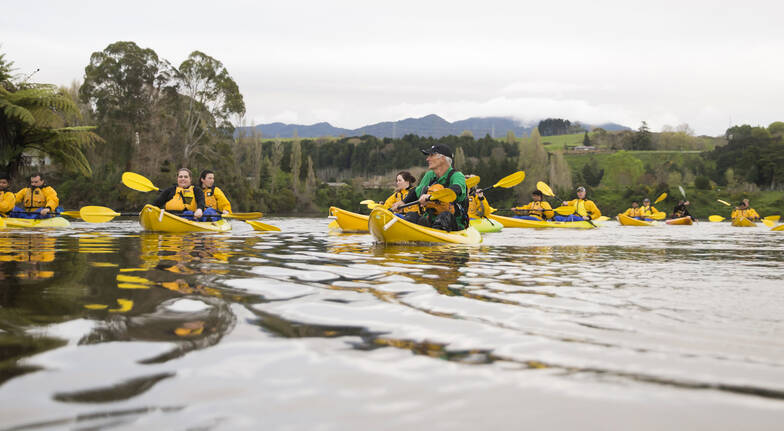 Guided Waikato River Trail Walk Ride and Paddle Triventure
