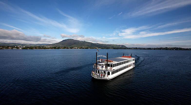 Scenic Cruise on Lake Rotorua with Coffee and Treat - 1 Hour