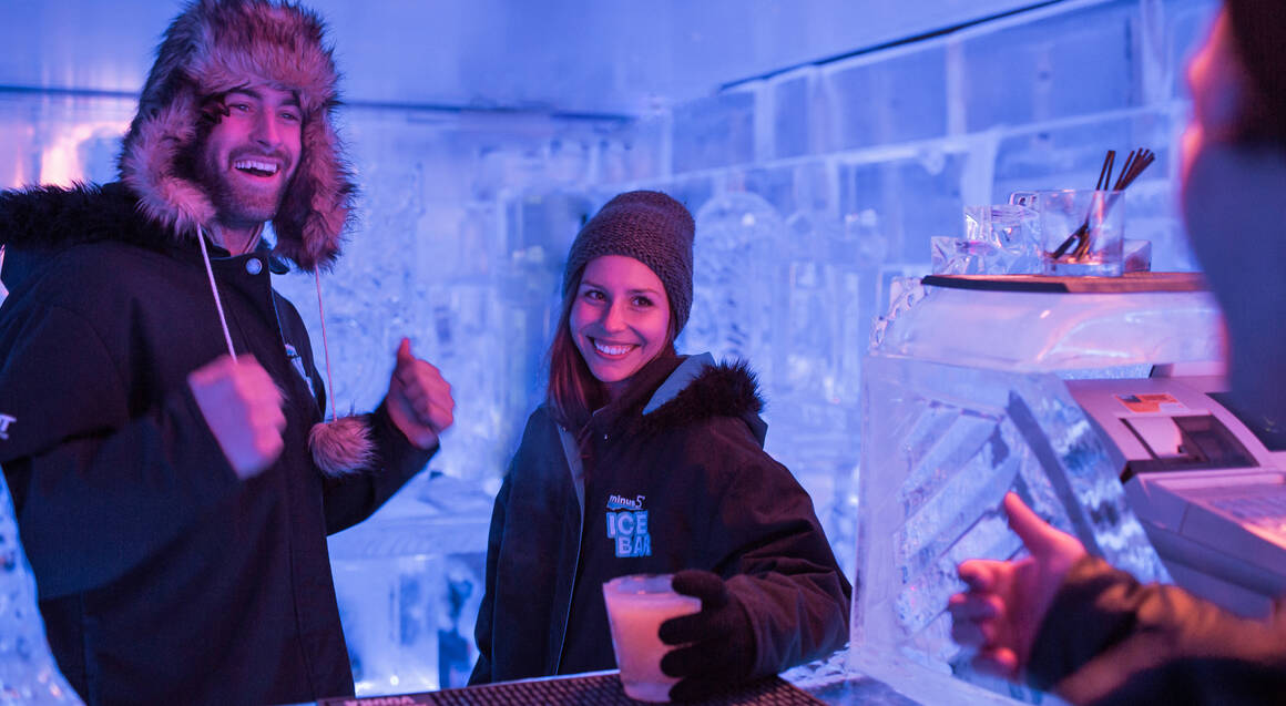 Ice Bar Entry with Cocktail