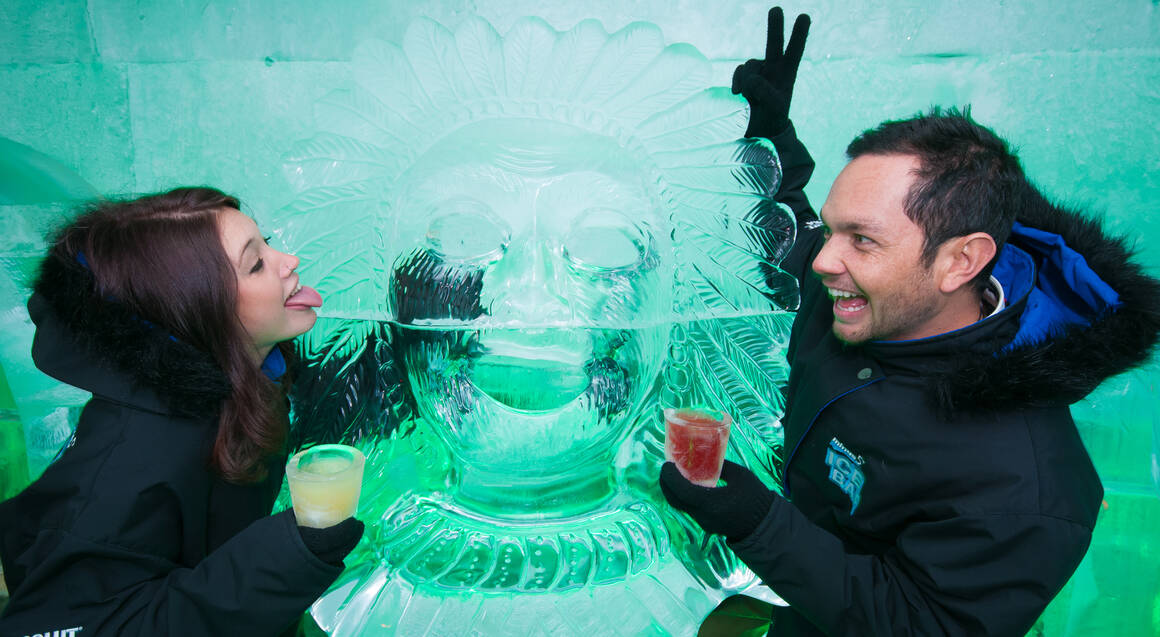 Ice Bar Entry with Two Cocktails
