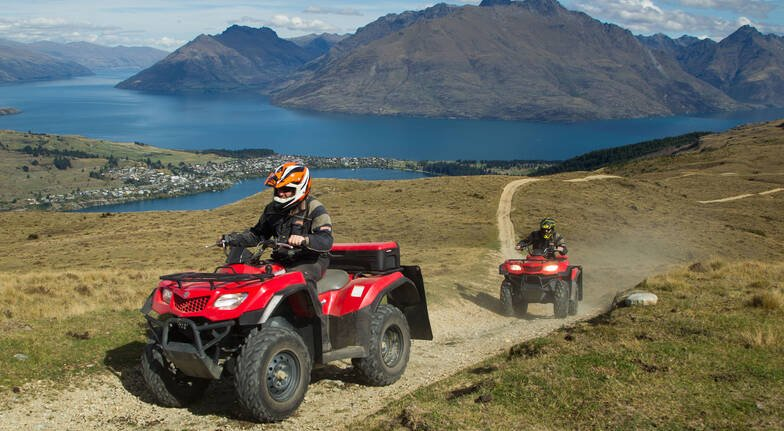 Off Road Quad Biking on Queenstown Hill