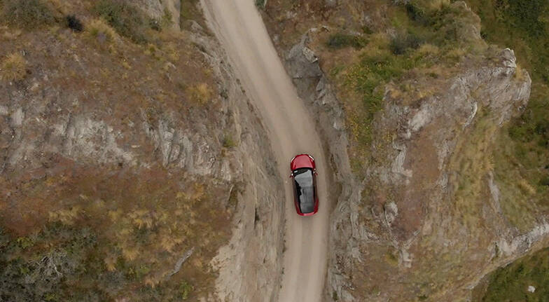Guided Tesla X Tour to Skippers Canyon - For up to 3