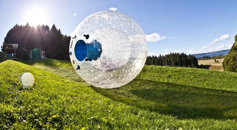 VIP ZORB Globe Ride - 4 Rides with Photos, Video and T-Shirt