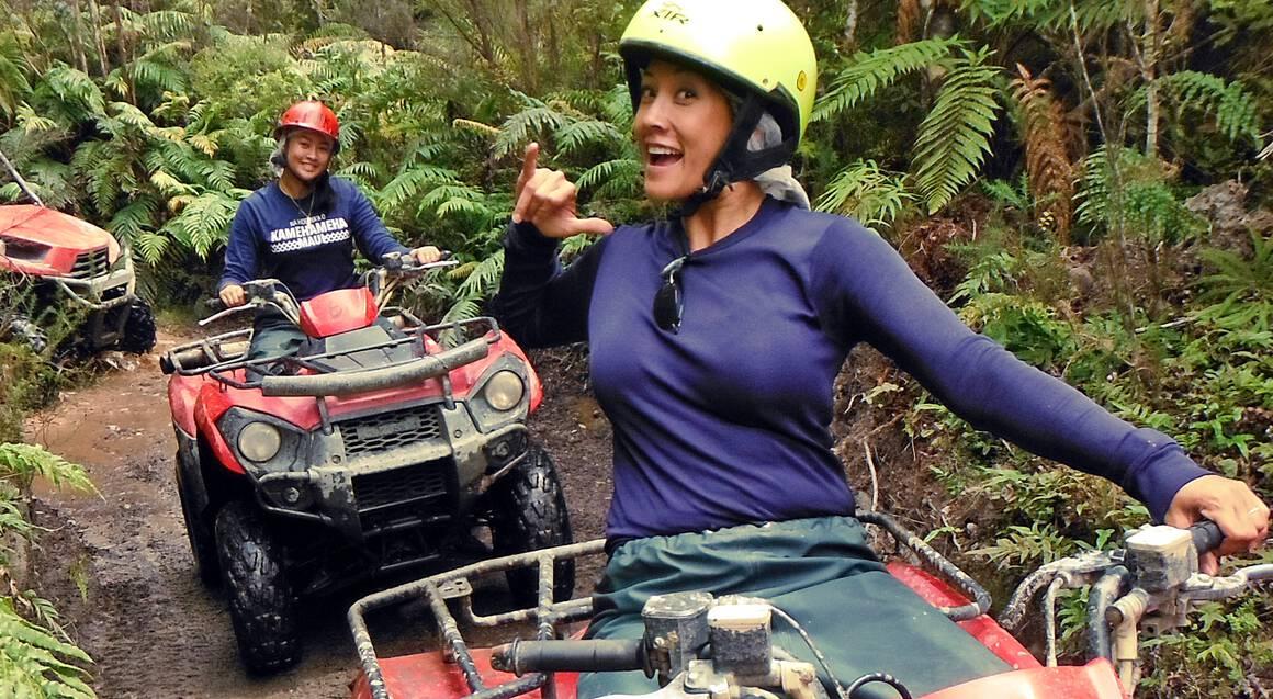 Quad Biking on the Enchanted Rainforest Track - 1 Hour