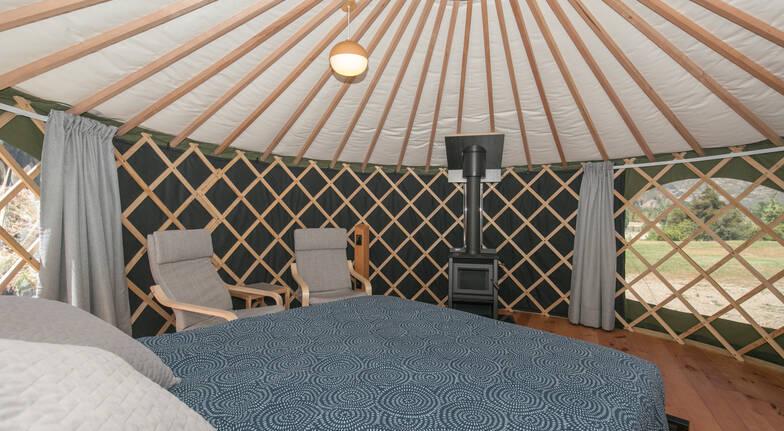 Overnight 5m Yurt Glamping in Wanaka - For 2