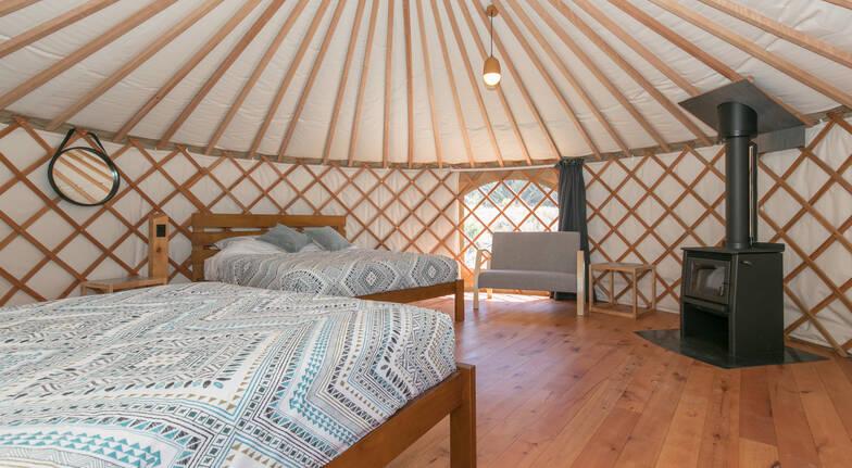 Overnight 6m Yurt Eco Glamping in Wanaka - For 2