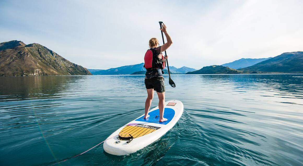 Stand Up Paddle Boarding on Lake Wanaka