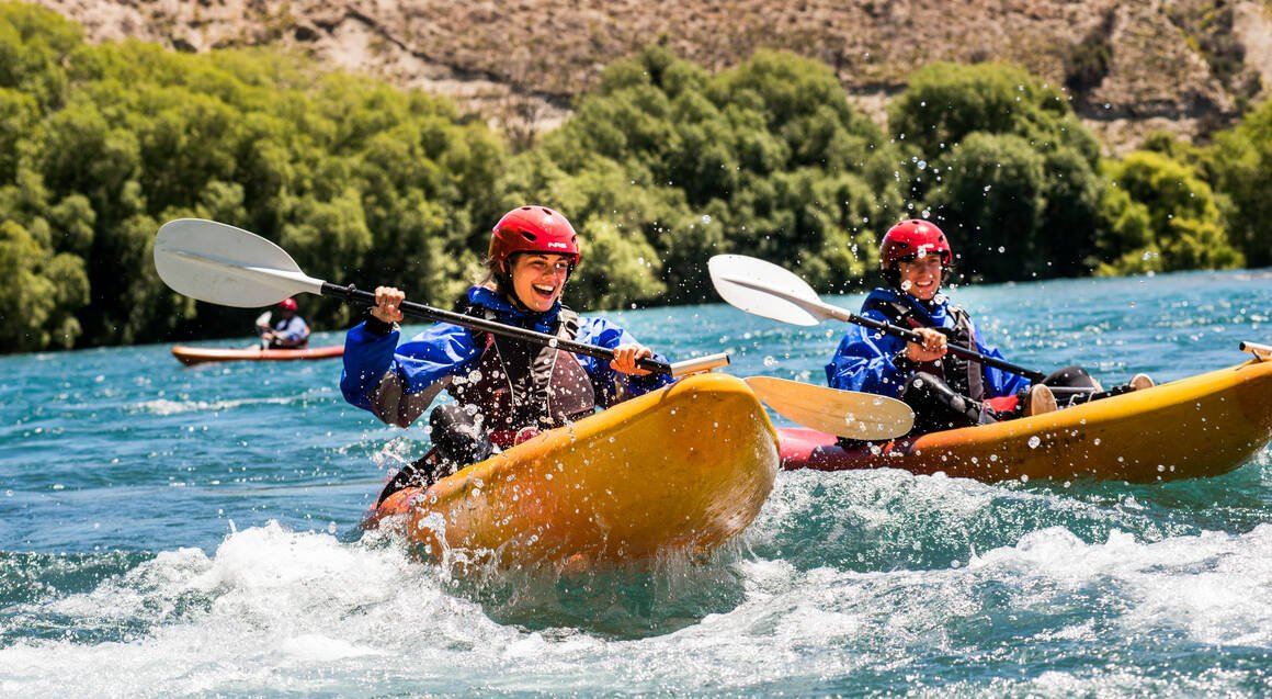 White Water Kayaking on the Clutha River