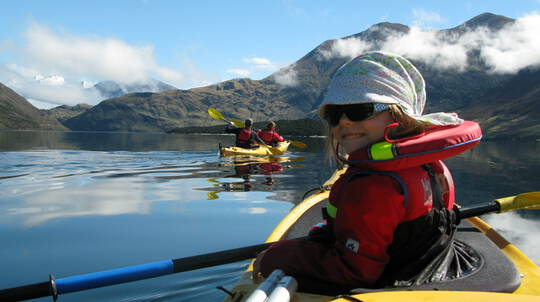 Lake Wanaka Guided Kayaking and Overnight Camping Trip