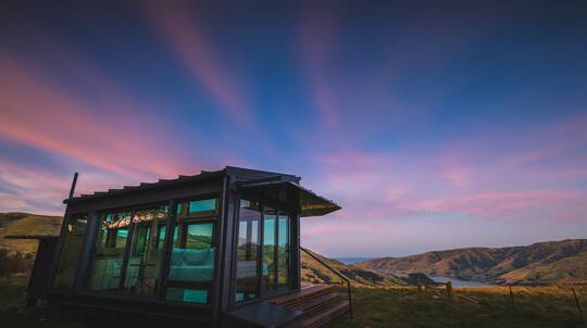 1 Night Luxury Glass Eco Cabin Stay - Pohue - For 2