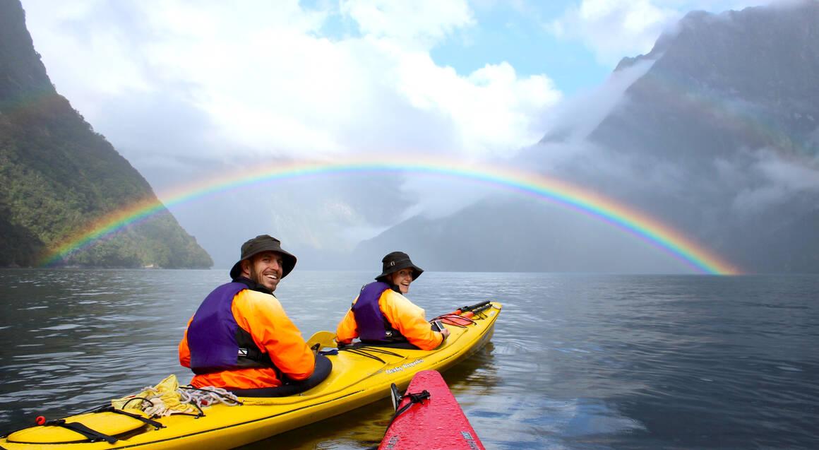 Kayaking on Milford Sound