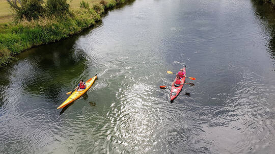 Self Guided Kayaking Tour on the Ohau Channel