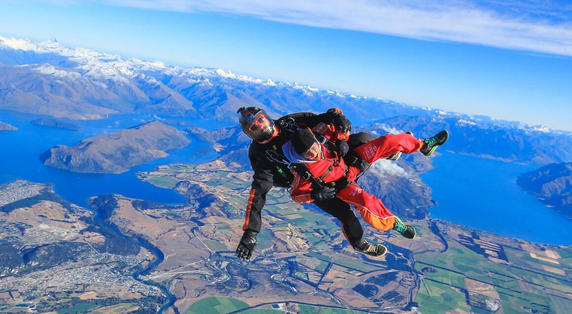Tandem Skydive over Wanaka - 15,000ft