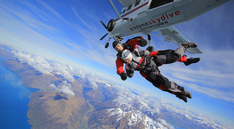 Tandem Skydive Over Queenstown - 15,000ft