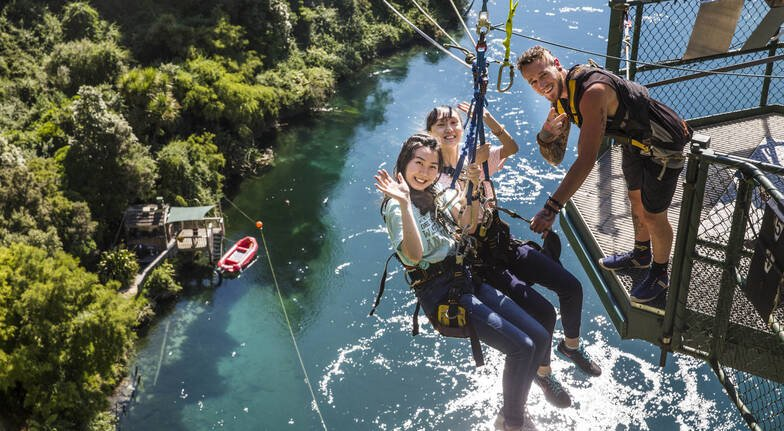 Bungy Jump and Cliffhanger Extreme Swing Combo