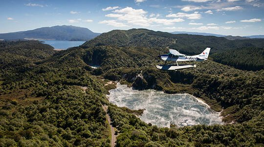 Floatplane Tour over Mt Tarawera and Waimangu Thermal Valley
