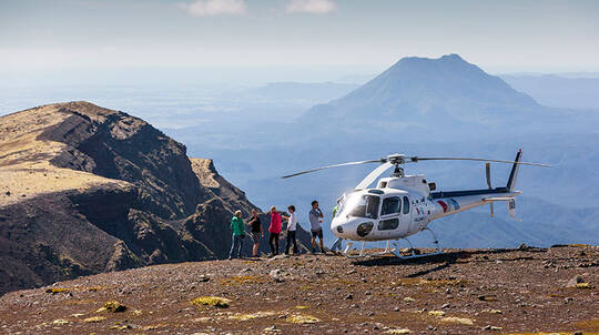 Helicopter Flight over Mount Tarawera with Guided Walk