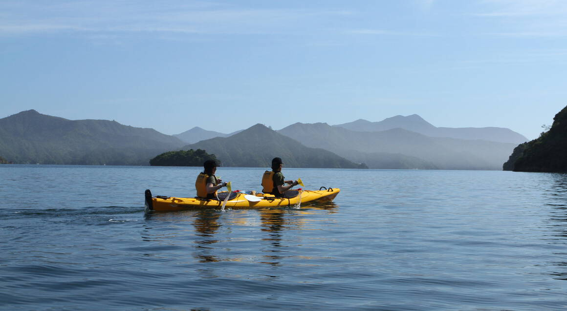 Queen Charlotte Sound Guided Kayak and Walk - Full Day