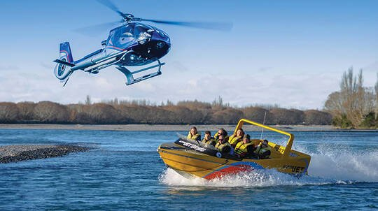 Helicopter Flight and Jet Boat Ride Combo Experience